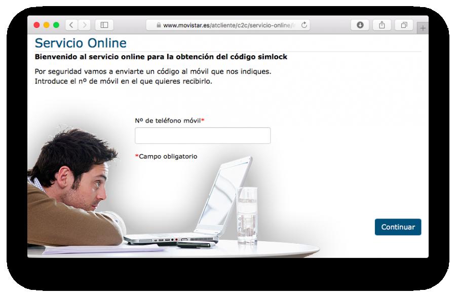 Movistar servicio de liberación gratuito (captura de pantalla)